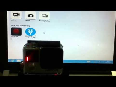 Control Gopro Hero 4 with PC jquery