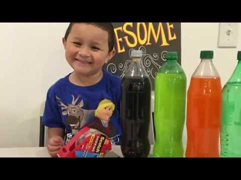 Balloon inflation with pop rocks and soda! Science project for kids by a kid!!