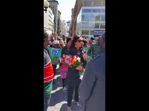 GDG Chair Gina Din-Kariuki attends New York city's vigil for Garissa Students