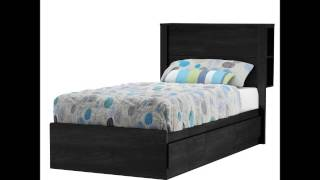 South Shore Fynn Collection Bed, Twin, Gray Oak
