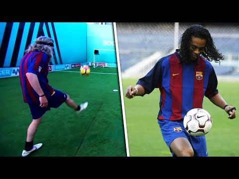 Jimmy Bullard Recreates   Ronaldinho's viral double crossbar tekkers!