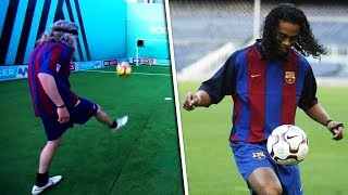 Jimmy Bullard Recreates | Ronaldinho's viral double crossbar tekkers!