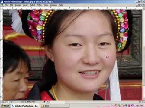 Xử lý ảnh photoshop-Tẩy mụn làm mịn da HocPhotoshop.Com