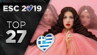 Eurovision 2019 - Top 27 (So Far) + 🇬🇷