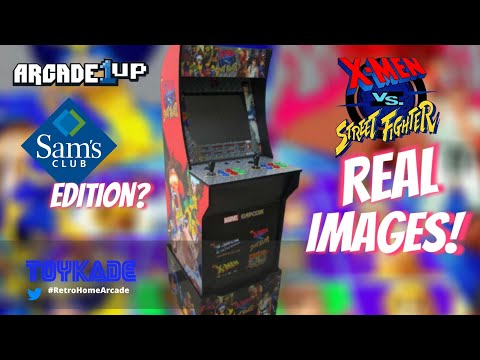 Arcade1UP - X-men Vs Street Fighter real FCC images + Sam's Club edition from ToyKade