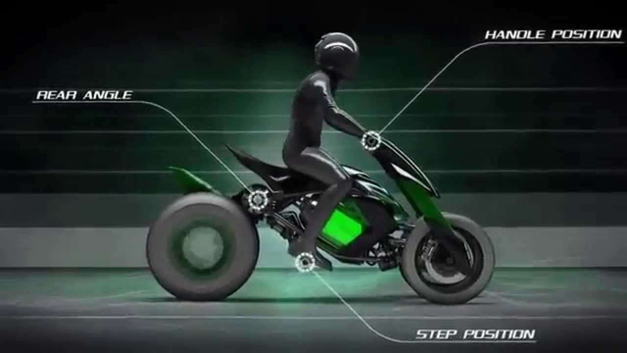 3 Wheeled Motorcycles >> Motorcycles of the future. Kawasaki J Concept electric motorcycle. - YouTube