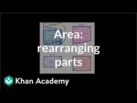 Finding area by rearranging parts | Geometry | 6th grade | K