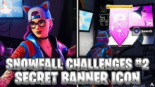SECRET BANNER ICON! Week 2 Snowfall Challenges (Fortnite Season 7)