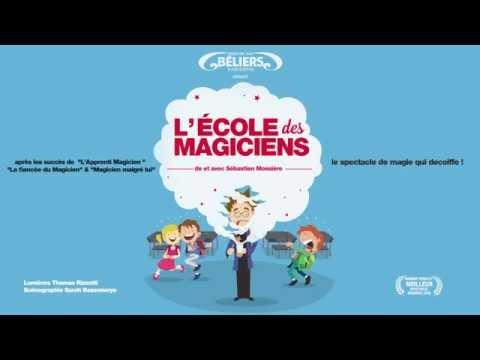 """Vidéo Bande annonce du spectacle """"L' école des magiciens"""". écrit, mis en scène et interprété par Sébastien Mossière."""