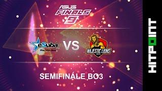 [CS:GO] eSuba vs Majestic Lions @ ASUS FINALS 9