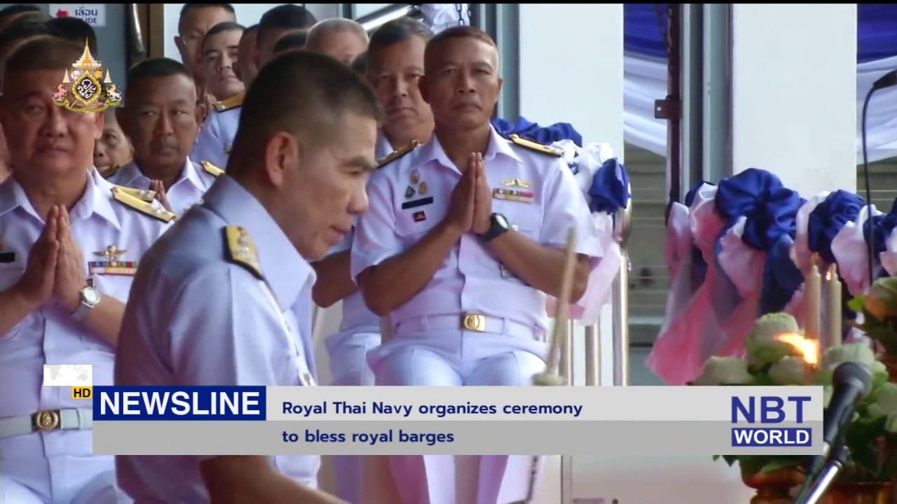 Royal Thai Navy organizes ceremony to bless royal barges