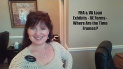 FHA & VA Loan Exhibits on the RE Forms - Where are the Time Frames?