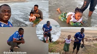 It Ended In Tears: Zionfelix & Talented Kidz Winner Nakeeyat Chill Big Time At Private Beach
