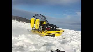 AMAZING AIRBOAT DESTROYS LAKE SUPERIOR BRASH ICE!!