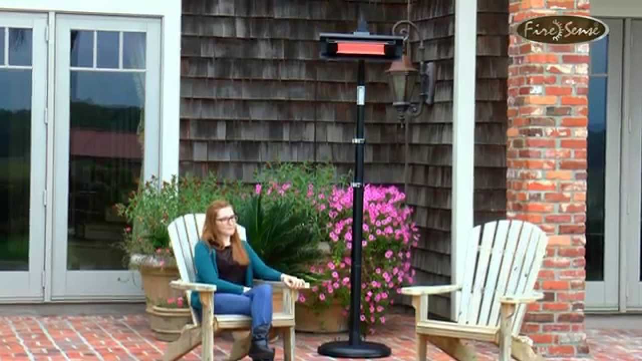 Fire Sense Telescoping Offset Pole Mounted Infrared Patio Heater 02678,