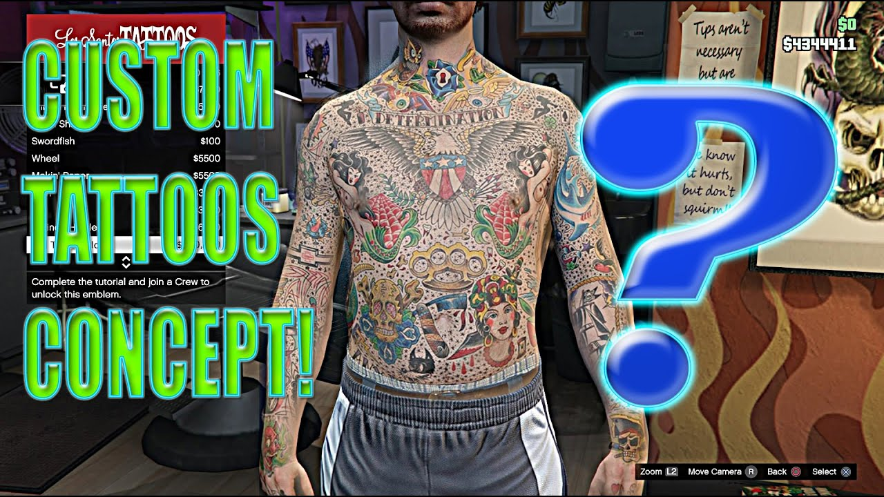 Custom Tattoos In Gta V Concept Images Full Torso Tattoos Custom Tattoos And More  Youtube