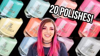 HUGE Nail Polish Swatch and Review: Jessica Cosmetics Spring and Summer 2019 || KELLI MARISSA