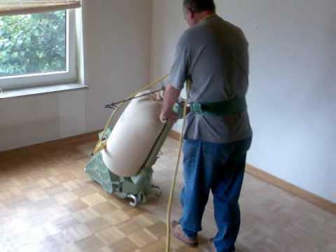 Parkett Holz Dielen Schleifen Versiegeln Olen Wmv Youtube
