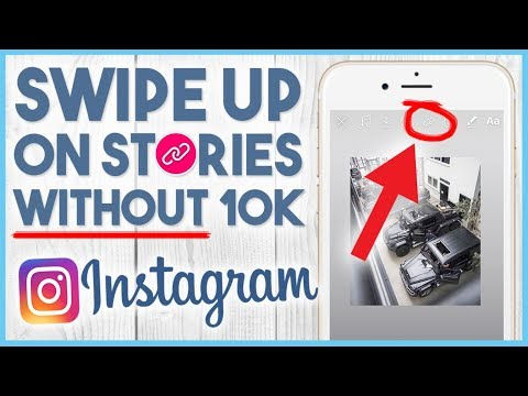 😏 How To Add SWIPE UP Link To Instagram Story WITHOUT 10k Followers Hack 😏