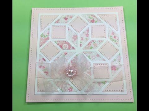 Gina Marie Designs Flower Quilt Die Demo