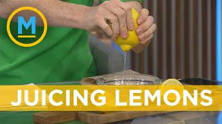 This lemon squeezing hack is going viral and it really works (we try it on live TV)   Your Morning