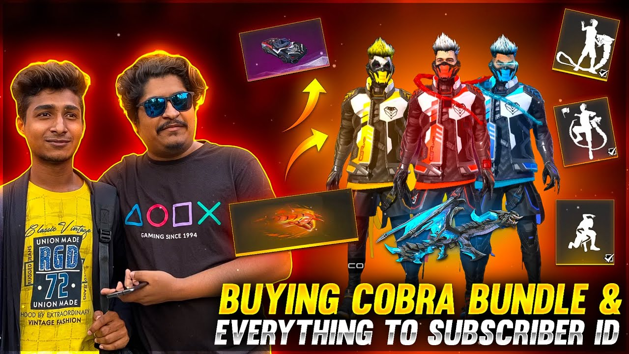 New Cobra Bundle & Everything to Subcriber ID Free | Garena Free Fire
