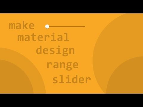 Make Material Design Range Slider - YouTube