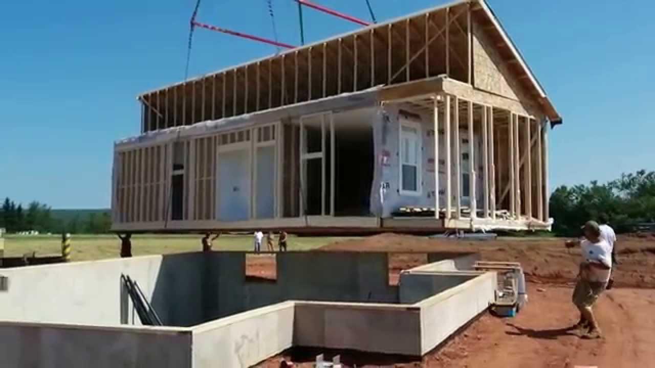 Burlington pei modular home setup youtube for Pei home builders