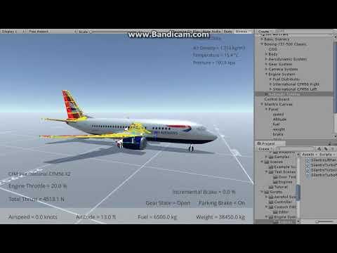 Silantro Unity3d Flight Simulator Boeing 737 500 Classic Flight Test Takeoff And Landing Youtube