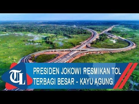 Presiden Jokowi Resmikan Tol Terbanggi Besar - Kayu Agung | Tribun Lampung News Video
