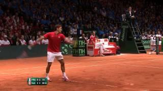 Final Copa Davis 2014: resumen de la victoria de Roger Federer sobre Richard Gasquet