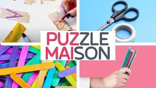 🧩 DIY : Puzzle éducatif Maison à faire avec vos enfants