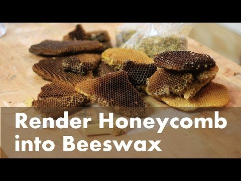 How To Render Beeswax from a Honeycomb