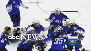 US wins Olympic gold in women's hockey