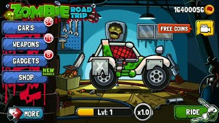Zombie Road Trip All cars  Upgraded to Max Level screenshot 2