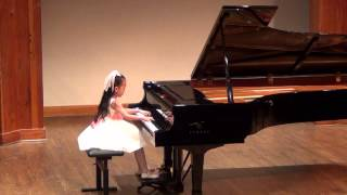 Harmony Zhu (age 7) - CMC 1st Place, Bach Two-Part Invention No.13 in A minor, BWV784, 1st Round