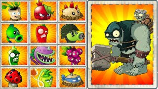 Plants vs Zombies 2 Fire Plants Power UP vs Zombistein - Gargantuar Gameplay PVZ 2 Primal