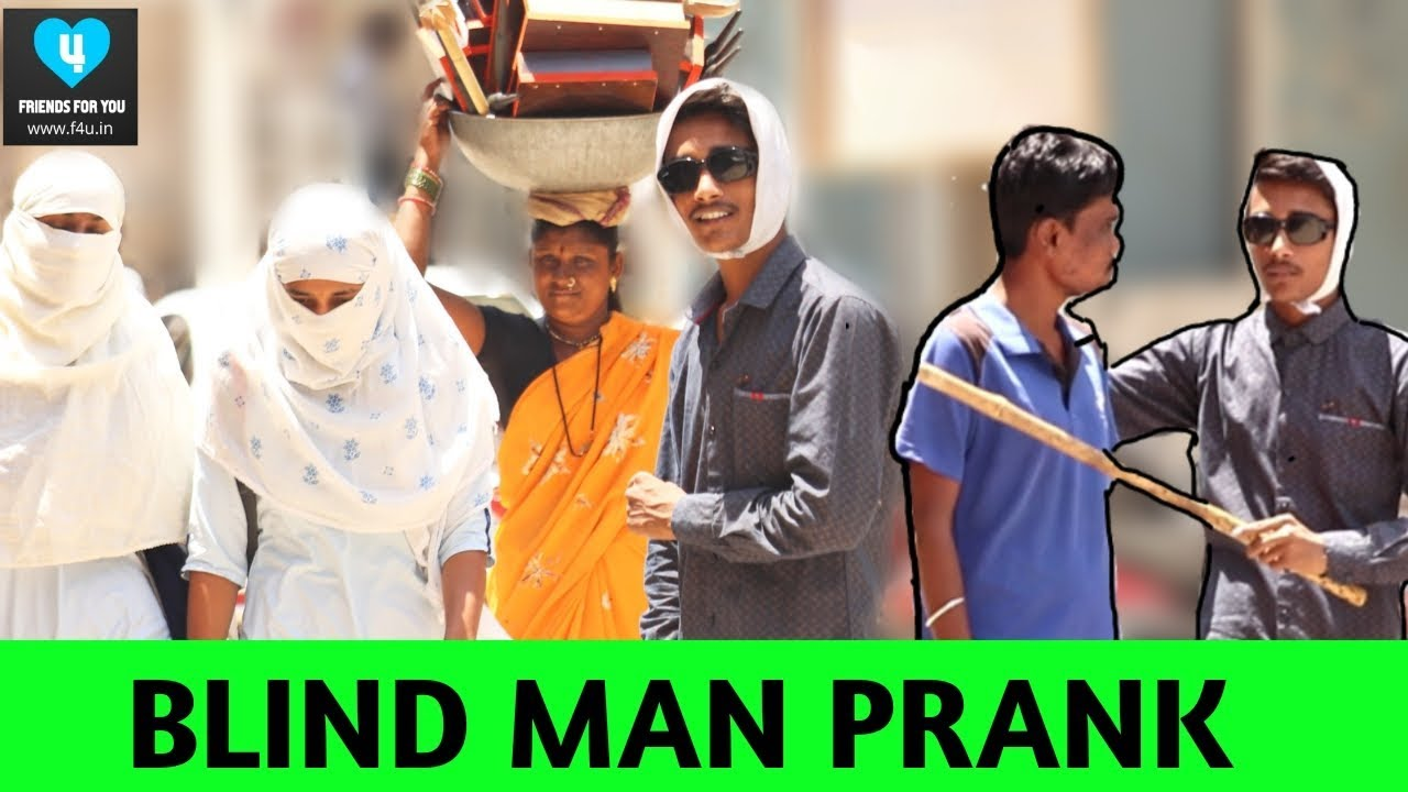 #latur #blindmanprank #comedy Blind Man Prank | Crazy Funny | Prank In India | f4u.in