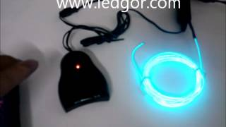EL wire Fexible EL Neon ELectroluminescent Wire for Sound control flash Iluminação - Ledgor