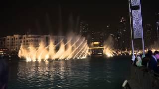 Fontein show Dubai