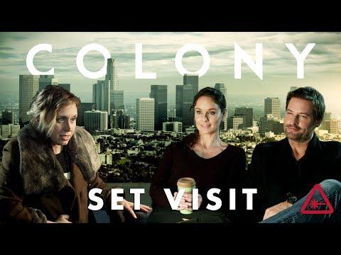 Josh Holloway and Sarah Wayne Callies Give Amy Colony Spoilers  Nerdist Set Visit Part 3
