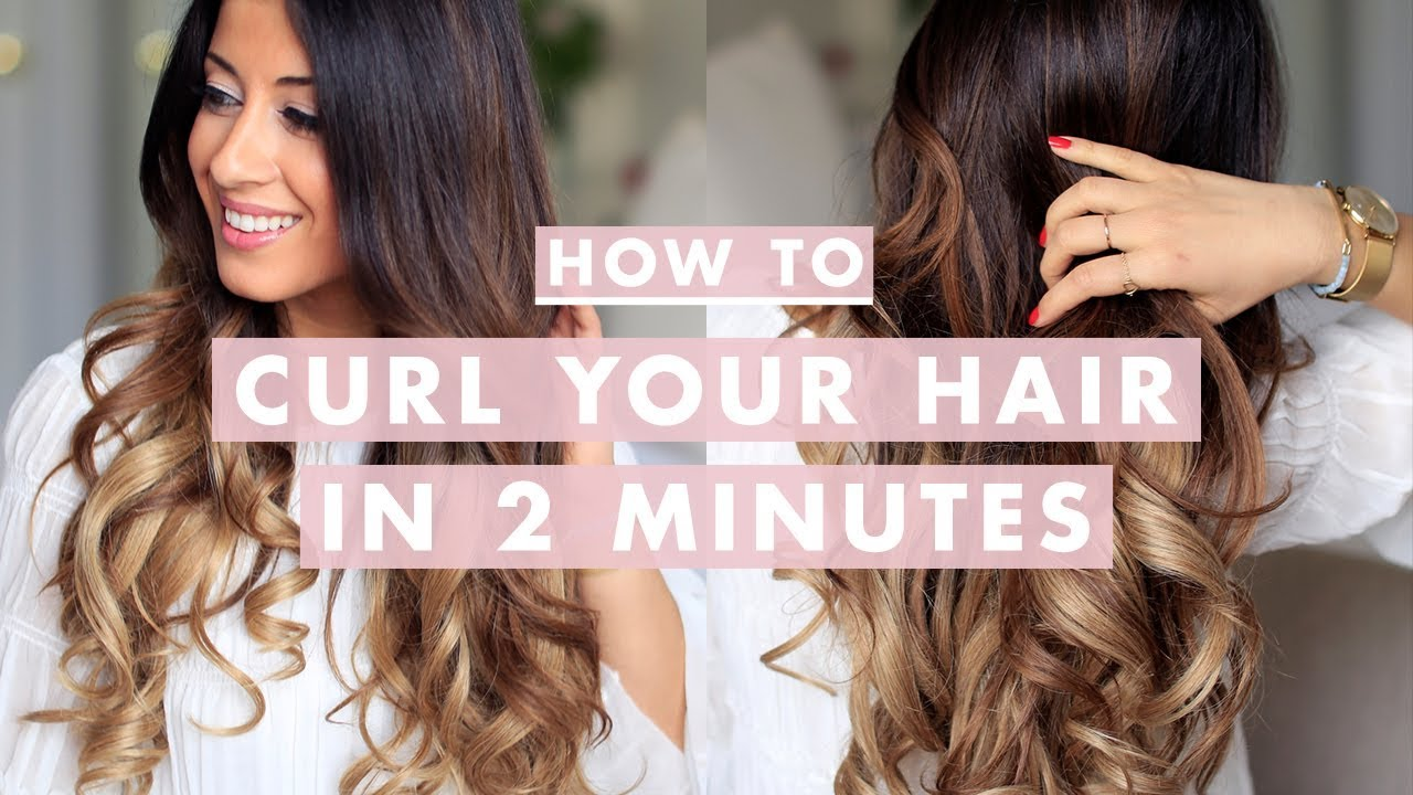 how to curl your hair in 2 minutes luxy hair youtube