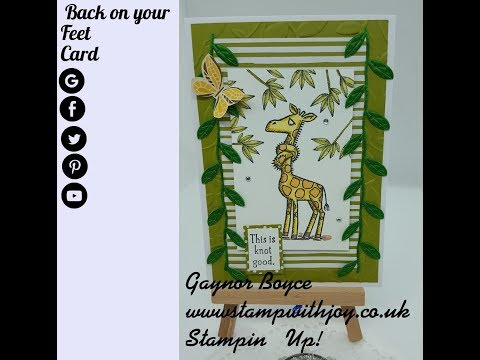 Back on your Feet Card Stampin' Up!