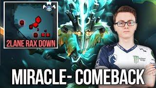 Miracle- 9k MMR Mid Juggernat EPIC 2 Lane Rax Down Comeback - Dota 2