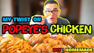 MY TWIST ON POPEYE'S FRIED CHICKEN RECIPE | COPYCAT| DIY | QT