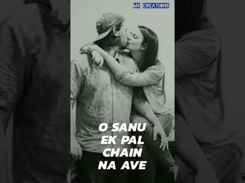 Sanu Ek Pal Chain Na Aave/full Screen/whatsapp Status/30 Seconds/MS CREATIONS