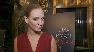 Uma Thurman and More on Nerves, Learning Lines, and Opening The Parisian Woman