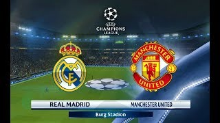 Real Madrid vs Manchester United | A. Sanchez 2 Goals | UEFA Champions League 2018 | PES 2018 HD