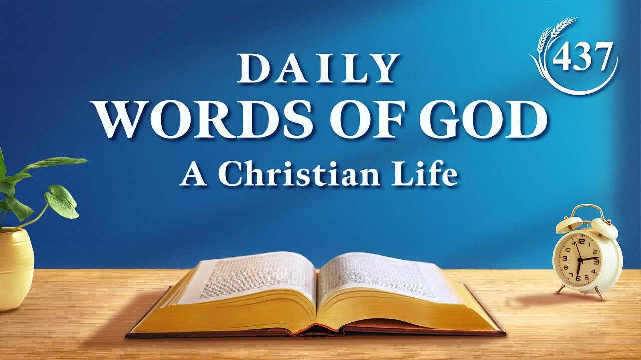 """Daily Words of God   """"Discussing Church Life and Real Life""""   Excerpt 437"""
