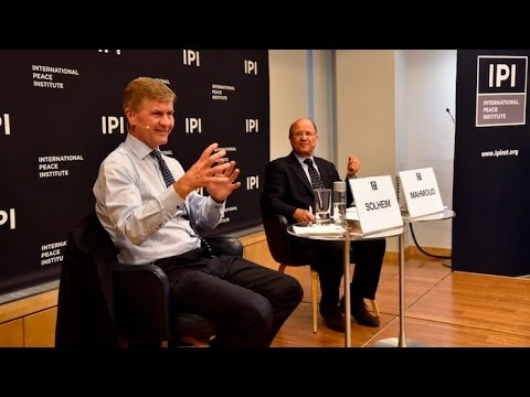 Leading for Peace: Erik Solheim, Executive Director of UN Environment
